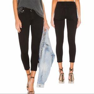 Agolde Filter Free Sophie Black Skinny Ankle Jeans